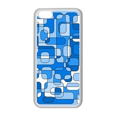 Blue decorative abstraction Apple iPhone 5C Seamless Case (White)