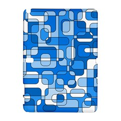 Blue decorative abstraction Samsung Galaxy Note 10.1 (P600) Hardshell Case