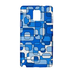 Blue decorative abstraction Samsung Galaxy Note 4 Hardshell Case