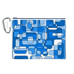 Blue decorative abstraction Canvas Cosmetic Bag (L)