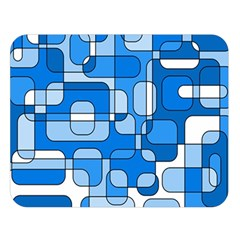 Blue decorative abstraction Double Sided Flano Blanket (Large)