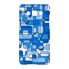 Blue decorative abstraction Samsung Galaxy A5 Hardshell Case