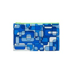 Blue decorative abstraction Cosmetic Bag (XS)