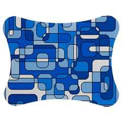 Blue decorative abstraction Jigsaw Puzzle Photo Stand (Bow)