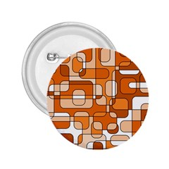 Orange decorative abstraction 2.25  Buttons