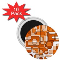 Orange decorative abstraction 1.75  Magnets (10 pack)