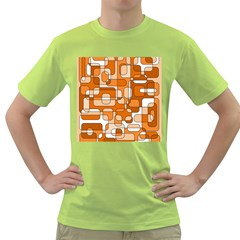 Orange decorative abstraction Green T-Shirt
