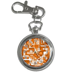 Orange decorative abstraction Key Chain Watches