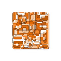 Orange decorative abstraction Square Magnet