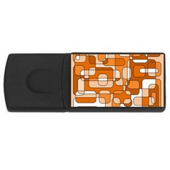 Orange decorative abstraction USB Flash Drive Rectangular (2 GB)