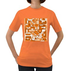 Orange decorative abstraction Women s Dark T-Shirt
