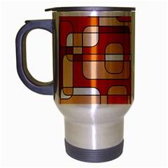 Orange decorative abstraction Travel Mug (Silver Gray)