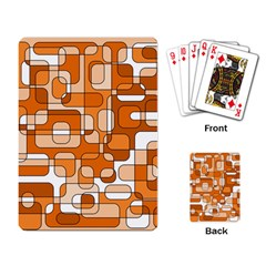 Orange decorative abstraction Playing Card
