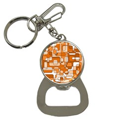 Orange decorative abstraction Bottle Opener Key Chains