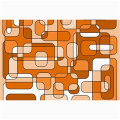 Orange decorative abstraction Collage Prints