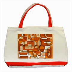 Orange decorative abstraction Classic Tote Bag (Red)