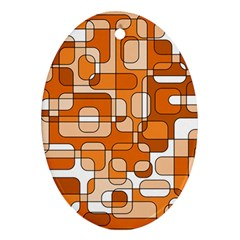 Orange decorative abstraction Oval Ornament (Two Sides)