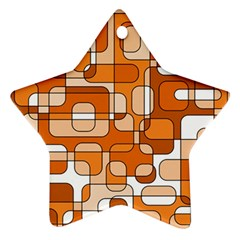 Orange decorative abstraction Star Ornament (Two Sides)