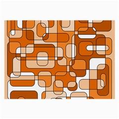 Orange decorative abstraction Large Glasses Cloth