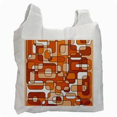 Orange decorative abstraction Recycle Bag (Two Side)