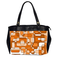 Orange decorative abstraction Office Handbags (2 Sides)