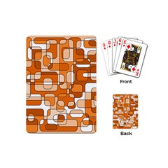 Orange decorative abstraction Playing Cards (Mini)