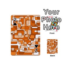 Orange decorative abstraction Playing Cards 54 (Mini)