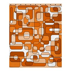 Orange decorative abstraction Shower Curtain 60  x 72  (Medium)