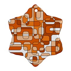 Orange decorative abstraction Ornament (Snowflake)