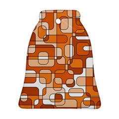 Orange decorative abstraction Bell Ornament (2 Sides)