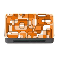 Orange decorative abstraction Memory Card Reader with CF