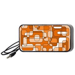 Orange decorative abstraction Portable Speaker (Black)
