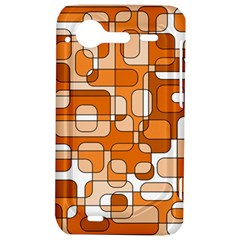 Orange decorative abstraction HTC Incredible S Hardshell Case