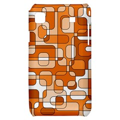 Orange decorative abstraction Samsung Galaxy S i9000 Hardshell Case