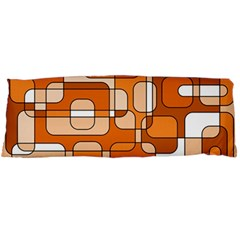 Orange decorative abstraction Body Pillow Case Dakimakura (Two Sides)