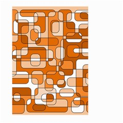 Orange decorative abstraction Large Garden Flag (Two Sides)