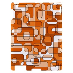 Orange decorative abstraction Apple iPad 2 Hardshell Case