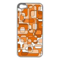 Orange decorative abstraction Apple iPhone 5 Case (Silver)