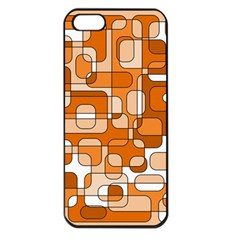 Orange decorative abstraction Apple iPhone 5 Seamless Case (Black)