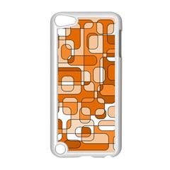 Orange decorative abstraction Apple iPod Touch 5 Case (White)