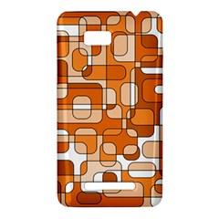 Orange decorative abstraction HTC One SU T528W Hardshell Case
