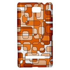 Orange decorative abstraction HTC 8S Hardshell Case