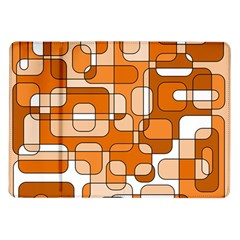 Orange decorative abstraction Samsung Galaxy Tab 10.1  P7500 Flip Case