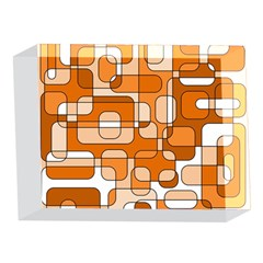 Orange decorative abstraction 5 x 7  Acrylic Photo Blocks