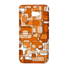Orange decorative abstraction HTC Butterfly S/HTC 9060 Hardshell Case