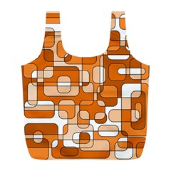 Orange decorative abstraction Full Print Recycle Bags (L)