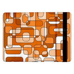 Orange decorative abstraction Samsung Galaxy Tab Pro 12.2  Flip Case