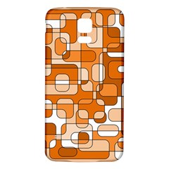 Orange decorative abstraction Samsung Galaxy S5 Back Case (White)