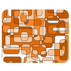 Orange decorative abstraction Double Sided Flano Blanket (Medium)