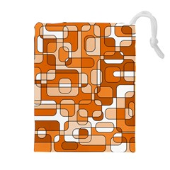 Orange decorative abstraction Drawstring Pouches (Extra Large)